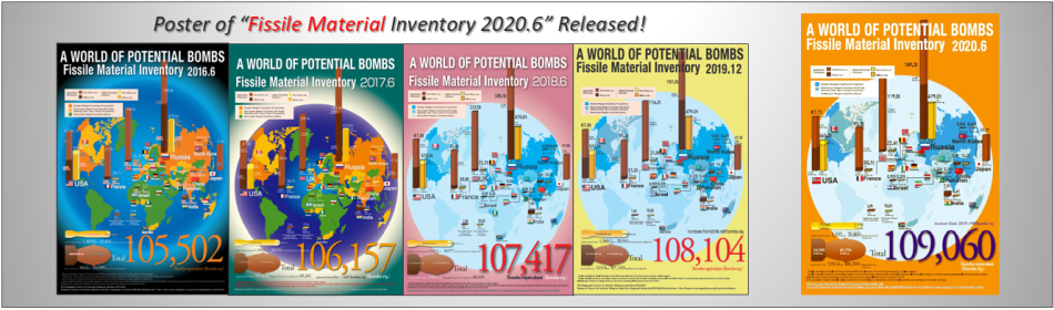 "Posters of ""The World's Fissile Material Inventory"" 2020.6"